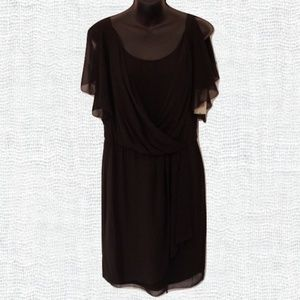 Evan Picone Black Chiffon Dress- Size 4